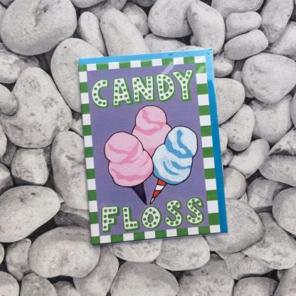 Candy Floss Greetings Card