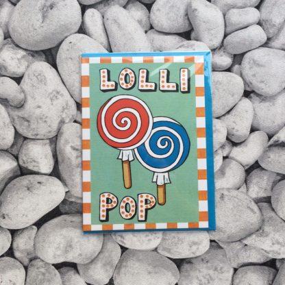 Lollipop Greetings Card