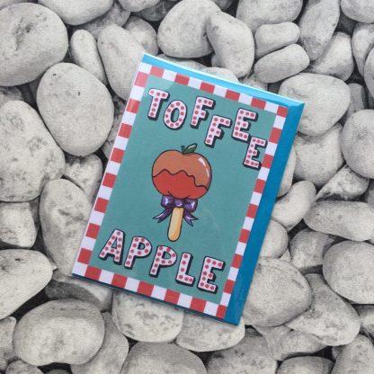 Toffee Apple Greetings Card
